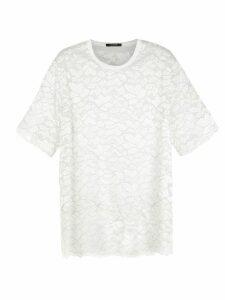 À La Garçonne oversized lace t-shirt - White
