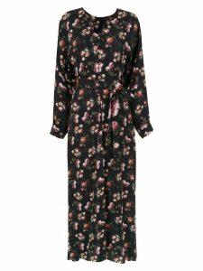 Gloria Coelho long printed dress - Black