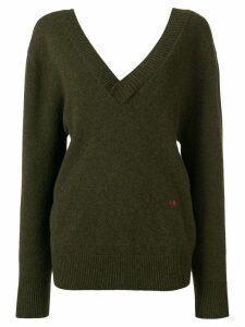 Victoria Beckham double V-neck jumper - Green