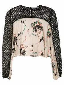 Nk printed silk blouse - Black