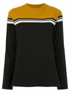 Osklen long sleeved color block top - Black