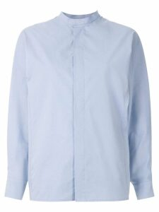 Egrey band collar shirt - Blue