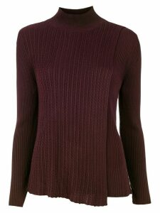 Mara Mac asymmetric knit blouse - Brown