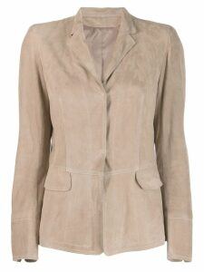 Sylvie Schimmel fitted suede jacket - Neutrals