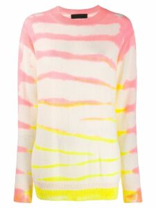 The Elder Statesman tie dye style jumper - PINK