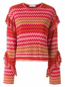 Nk knitted ruffled top - Red