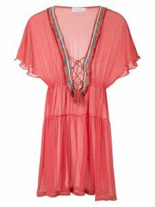 Brigitte silk tunic dress - Red