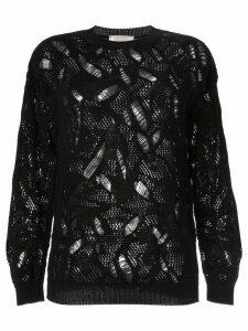 Nina Ricci patterned jumper - Black