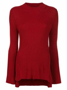 Osklen ribbed blouse - Red