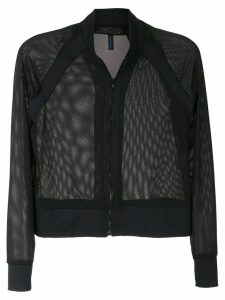 Lygia & Nanny mesh panel bomber jacket - Black