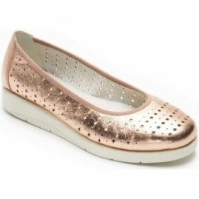 Padders  Dew Womens Ballet Pumps  women's Shoes (Pumps / Ballerinas) in Gold