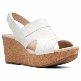 Clarks  Annadel Ivory Womens Wedge Heel Sandals  women's Sandals in White