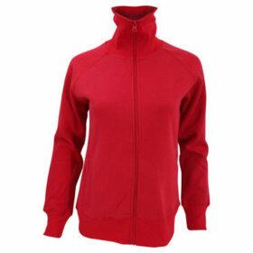 Sols  WomensLadies Soda Full Zip Active Sweat Jacket  women's Sweatshirt in Red