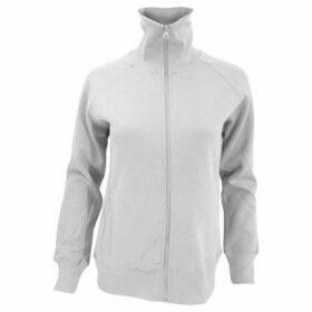 Sols  WomensLadies Soda Full Zip Active Sweat Jacket  women's Sweatshirt in White