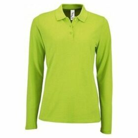Sols  WomensLadies Perfect Long Sleeve Pique Polo Shirt  women's Polo shirt in Green