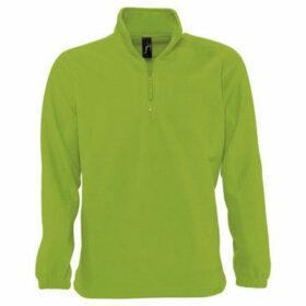 Sols  Ness Unisex Zip Neck Anti-Pill Fleece Top  women's Sweatshirt in Green