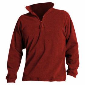 Sols  Ness Unisex Zip Neck Anti-Pill Fleece Top  women's Sweatshirt in Red