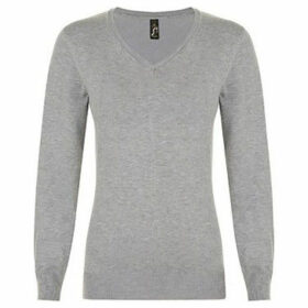 Sols  WomensLadies Glory V Neck Sweater  women's Sweatshirt in Grey