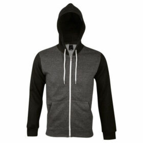 Sols  Silver Unisex Full Zip Hooded Sweatshirt  Hoodie  women's Sweatshirt in Grey