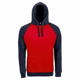 Sols  Unisex Seattle Contrast Raglan Hoodie  women's Sweatshirt in Red