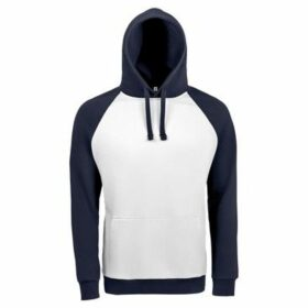 Sols  Unisex Seattle Contrast Raglan Hoodie  women's Sweatshirt in Blue