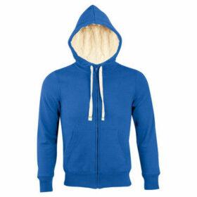 Sols  Sherpa Unisex Zip-Up Hooded Sweatshirt  Hoodie  women's Sweatshirt in Blue