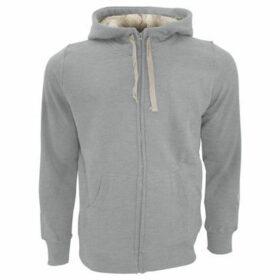 Sols  Sherpa Unisex Zip-Up Hooded Sweatshirt  Hoodie  women's Sweatshirt in Grey