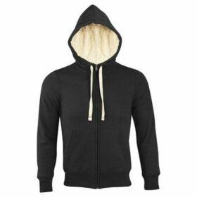 Sols  Sherpa Unisex Zip-Up Hooded Sweatshirt  Hoodie  women's Sweatshirt in Black