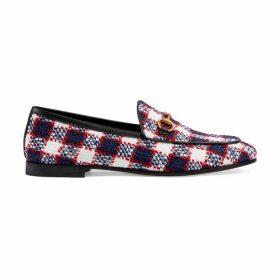 Women's Gucci Jordaan check tweed loafer