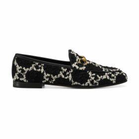 Women's Gucci Jordaan GG tweed loafer