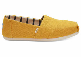 TOMS Gold Fusion Heritage Canvas Women's Classics Venice Collection Slip-On Shoes - Size UK4.5