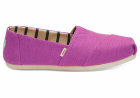 TOMS Red Plum Heritage Canvas Women's Classics Venice Collection Slip-On Shoes - Size UK7.5