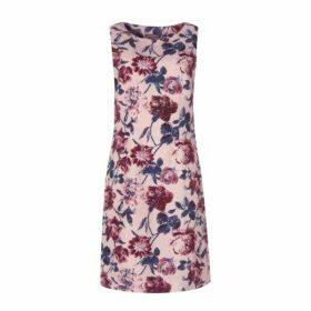 Springtime Floral Linen Shift Dress