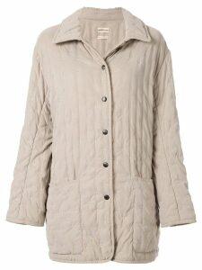 Hermès Pre-Owned long sleeve coat jacket - NEUTRALS