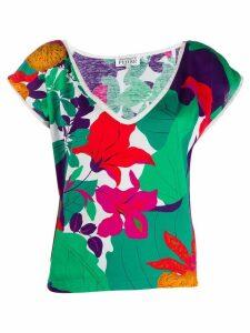 Gianfranco Ferré Pre-Owned 1980's floral print V-neck blouse -