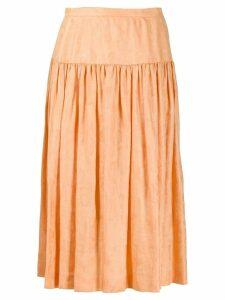 Valentino Pre-Owned 1980's flared midi skirt - ORANGE