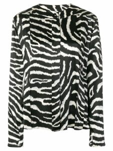 Valentino Pre-Owned 1980's zebra top - Black