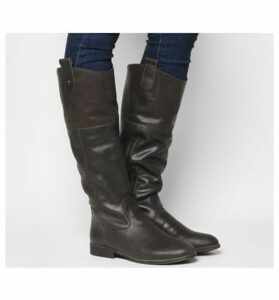 Office Kentish- Tab Detail Casual Boot BROWN LEATHER