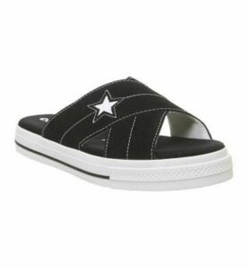 Converse One Star Sandal BLACK EGRET WHITE