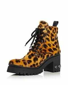 Miu Miu Women's Never Mind Crystal Block Heel Hiking Boots