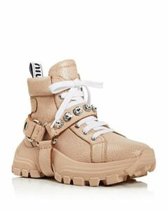 Miu Miu Women's Monstar Crystal-Embellished Hiking Boots