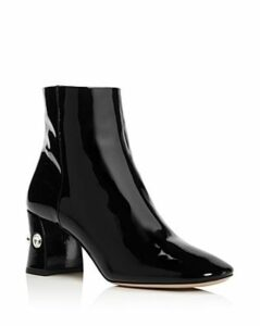 Miu Miu Women's Rocchetto Patent Leather Booties