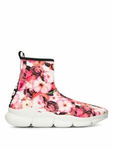 MSGM floral print sneakers - Pink