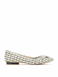 Sarah Chofakian tweed ballerinas - White
