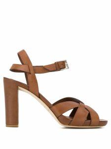 Del Carlo strappy block heel sandals - Brown