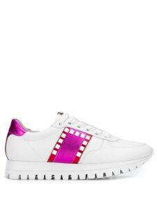 Kennel & Schmenger stripe appliqué sneakers - White