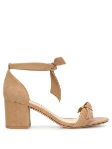 Alexandre Birman tie front block heel sandals - NEUTRALS