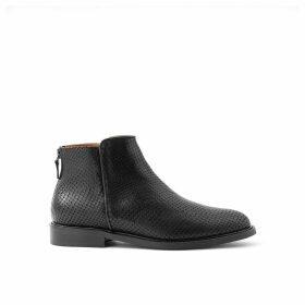 Elfie Leather Ankle Boots