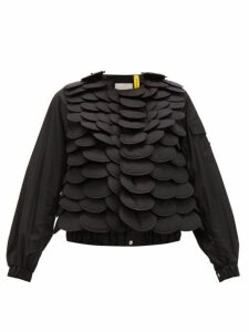 6 Moncler Noir Kei Ninomiya - Fish Scale Bomber Jacket - Womens - Black
