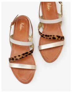 Bronwen Sandals Gold Women Boden, Gold